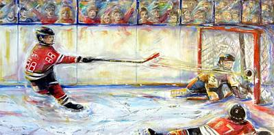 Painting - Score Ice Hockey by Bernadette Krupa