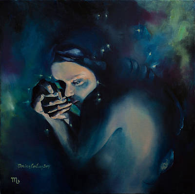 Constellations Painting - Scorpio by Dorina  Costras