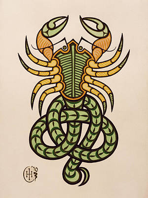 Scorpio Art Print by Ian Herriott