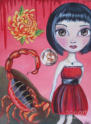 Scorpio Art Print by Jaz Higgins