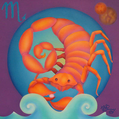 Zodiac Painting - Scorpio by Marcia  Perry