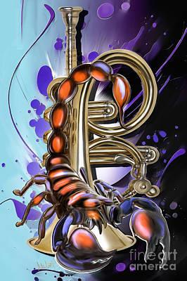 Zodiac Painting - Scorpio by Melanie D