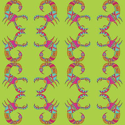 Scorpio Zodiac Sign Pattern Original by Prathamesh Prabhu