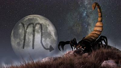 Constellation Digital Art - Scorpio Zodiac Symbol by Daniel Eskridge