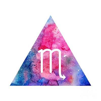 Zodiac Symbols Mixed Media - Scorpion Zodiac by Marina Demidova