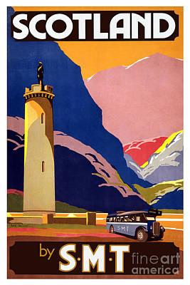 Painting - Scotland By S M T Vintage Travel Poster by R Muirhead Art