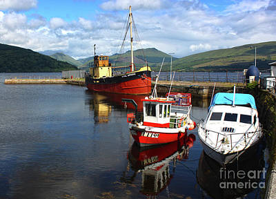 Photograph - Scotland Fishing Trawlers by Gregory Dyer
