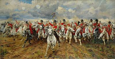 Cavalry Painting - Scotland Forever by Elizabeth Southerden Thompson