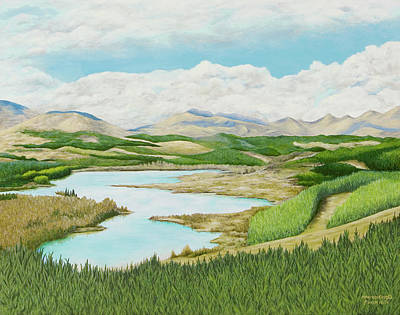 Painting - Scotland Stream by Mary Ann King