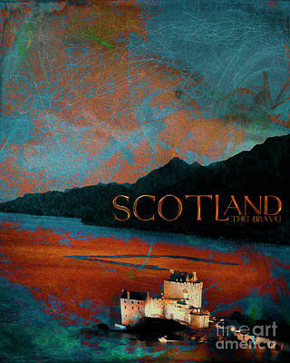 Digital Art - Scotland The Brave by Edmund Nagele
