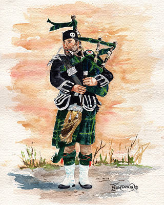 Tim Painting - Scotland The Brave by Timithy L Gordon