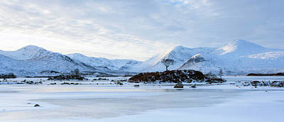 Rannoch Moor Digital Art - Scotland Winter - Rannoch Moor by Pat Speirs