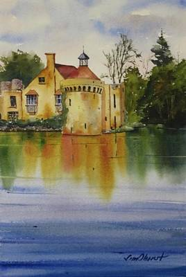 Oberst Painting - Scotney Castle by Jim Oberst