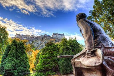 Photograph - Scots American Memorial And Edinburgh Castle by David Pyatt