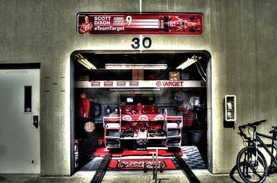 Scott Dixon Garage Indy Art Print by Josh Williams