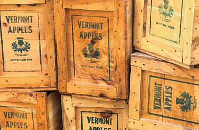 Scott Farm Apple Boxes Art Print