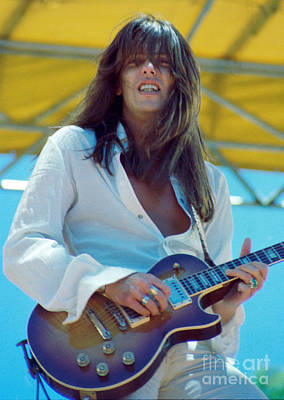 Photograph - Scott Gorham Of Thin Lizzy Black Rose Tour At Day On The Green 4th Of July 1979 - 1st Color Release by Daniel Larsen