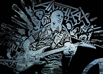 Scott Ian Digital Art - Scott Ian 1 by Michael Bergman