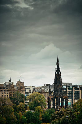 Photograph - Scott Monument by Songquan Deng
