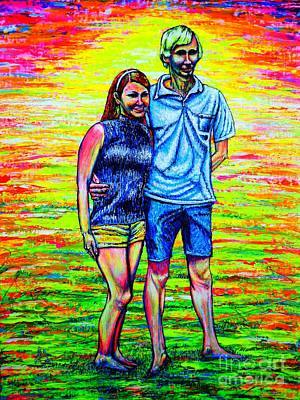 Painting - Scott Ross And Wife by Viktor Lazarev