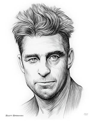 Drawing - Scott Speedman by Greg Joens