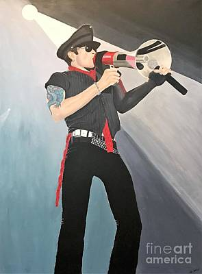 Stone Temple Pilots Wall Art - Painting - Scott Weiland by Jennifer Pennisi
