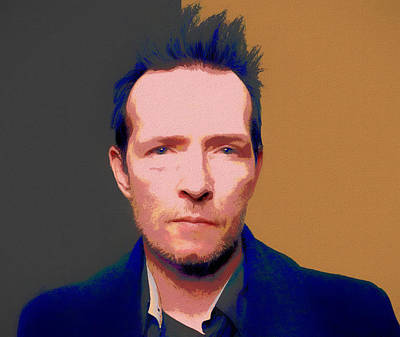 Stone Temple Pilots Wall Art - Painting - Scott Weiland Pop Art by Dan Sproul