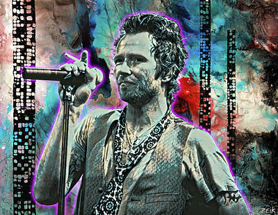 Stone Temple Pilots Wall Art - Painting - Scott Weiland - Silvergun Superman by Bobby Zeik