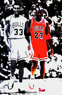 Scottie Pippen And Michael Jordan Art Print