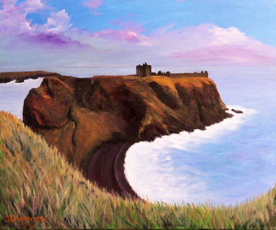 Painting - Scottish Castle Ruins by Janet Greer Sammons