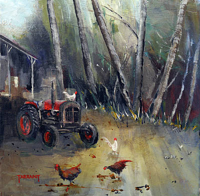 Scotland Painting - Scottish Crofter's Old Tractor by Peter Tarrant