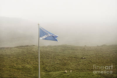Photograph - Scottish Flag In The Fog by Patricia Hofmeester
