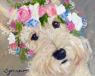 Scottish Terrier Painting - Scottish Flowers by Mary Sparrow