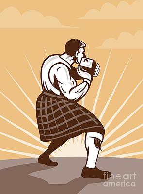 Throwing Digital Art - Scottish Games by Aloysius Patrimonio
