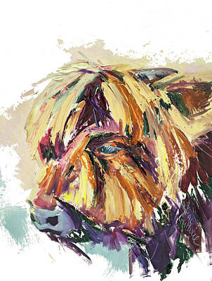 Wall Art - Painting - Scottish Highland Cattle Painting by Kim Guthrie