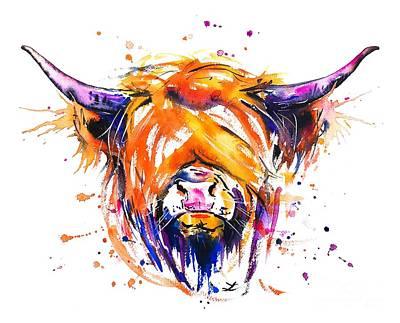 Painting - Scottish Highland Cow by Zaira Dzhaubaeva