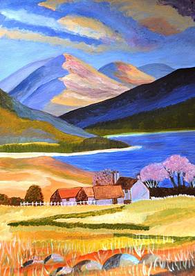Art Print featuring the painting Scottish Highlands 2 by Magdalena Frohnsdorff
