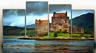 Digital Art - Scottish Moment On A Half Frame by Mario Carini