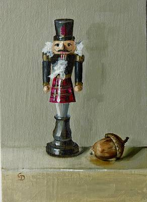 Painting - Scottish Nutcracker by Grace Diehl