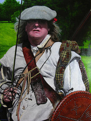 Painting - Scottish Soldier Of The Sealed Knot At The Ruthin Seige Re-enactment by Harry Robertson