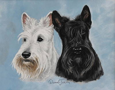 Scottish Dog Painting - Scottish Terrier by Daniele Trottier