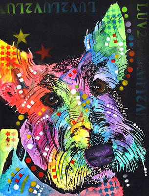 Scottish Terrier Painting - Scottish Terrier  by Dean Russo