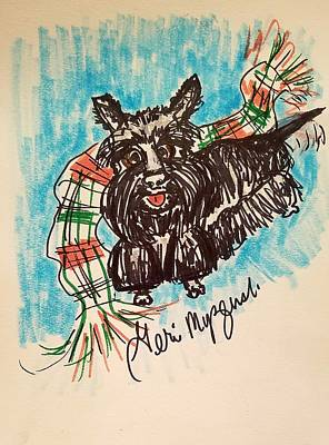 Scottish Terrier Drawing - Scottish Terrier by Geraldine Myszenski