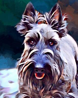 Terrier Digital Art - Scottish Terrier Painting by Scott Wallace