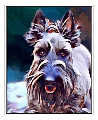 Scottish Terrier Digital Art - Scottish Terrier Print by Scott Wallace
