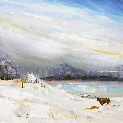 Scotland Painting - Scottish Winters  Glen by Peter Tarrant