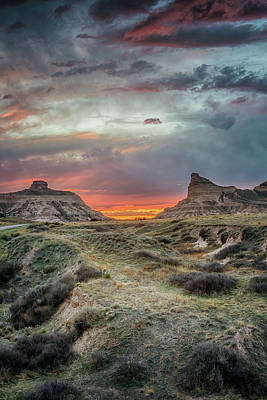 Photograph - Scotts Bluff Sunset by Susan Rissi Tregoning