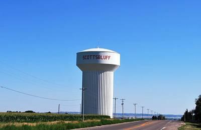 Photograph - Scottsbluff Nebraska Water Tower by Matt Harang