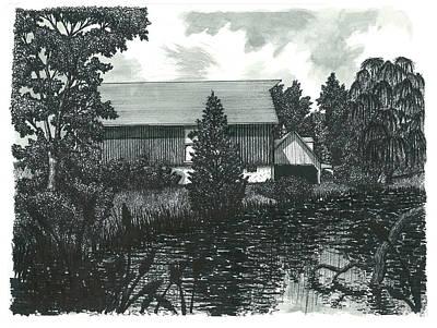 Scottsdale Drawing - Scottsdale Farm by Jonathan Baldock