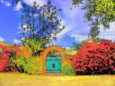Scottsdale Gate Art Print